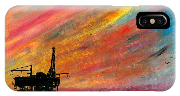 Rig At Sunset IPhone Case