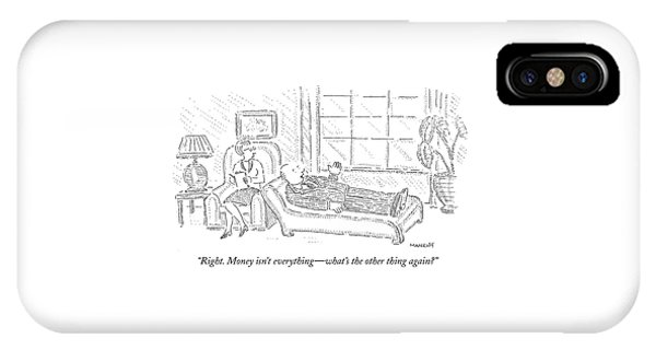 Poor iPhone Case - Right. Money Isn't Everything - What's The Other by Robert Mankoff