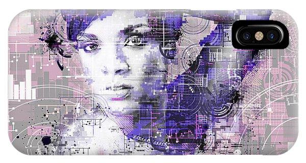Rihanna iPhone Case - Rihanna 3 by Bekim Art