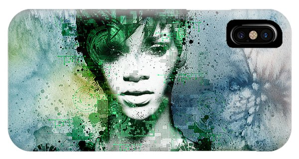 Abstract Digital iPhone Case - Rihanna 4 by Bekim Art