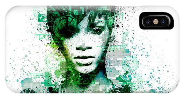 Rihanna iPhone Case - Rihanna 5 by Bekim Art