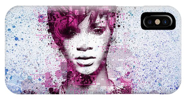 Rihanna iPhone Case - Rihanna 8 by Bekim Art