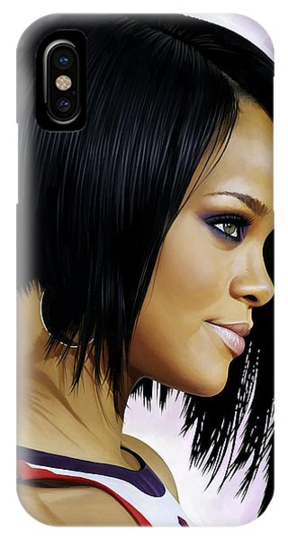 Rihanna iPhone Case - Rihanna Artwork by Sheraz A