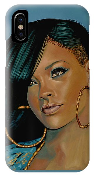 Rihanna iPhone Case - Rihanna Painting by Paul Meijering