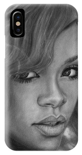 Rihanna Pencil Drawing IPhone Case