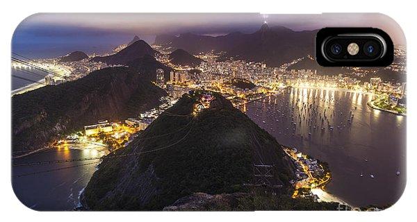 Rio Evening Cityscape Panorama IPhone Case