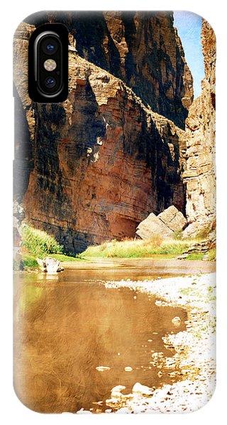 IPhone Case featuring the photograph Rio Grande At Santa Elena Canyon by Judy Hall-Folde