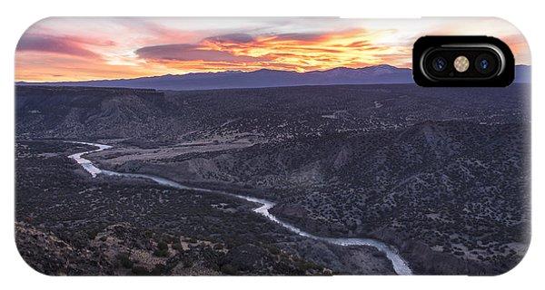 Rio Grande River Sunrise - White Rock New Mexico IPhone Case