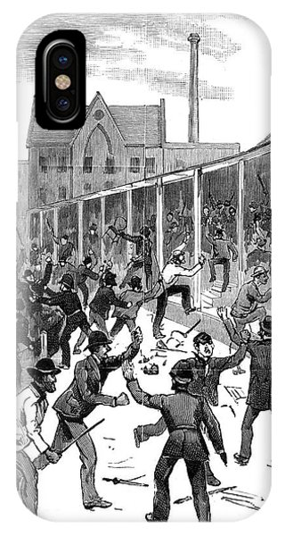Lillie iPhone Case - Rioters Wreck Lillie Bridge Sports by  Illustrated London News Ltd/Mar