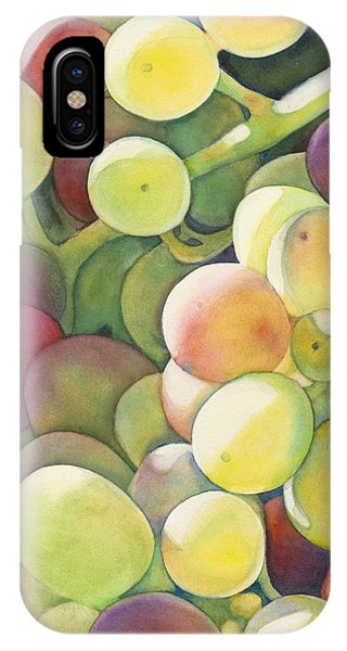 Grape iPhone X Case - Ripening by Sandy Haight