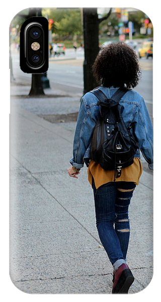 Ripped Jeans On The Run IPhone Case