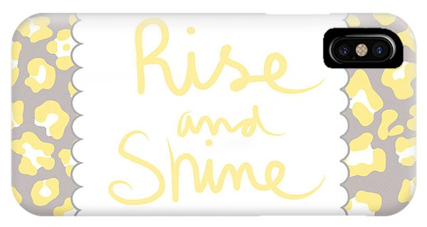 Print iPhone Case - Rise And Shine- Yellow And Grey by Linda Woods