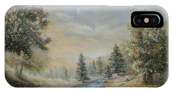 Rising Mist In The Berkshires In Ma IPhone Case