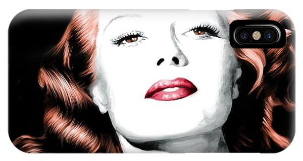 Rita Hayworth Large Size Portrait IPhone Case