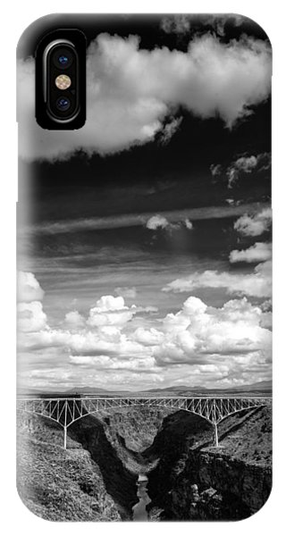 River And Clouds Rio Grande Gorge - Taos New Mexico IPhone Case