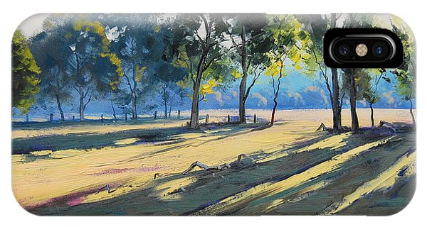 River Bank Shadows Tumut IPhone Case