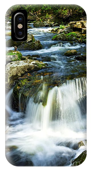River Flow iPhone Case - River Flowing Through Woods by Elena Elisseeva