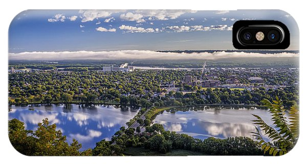 River Fog At Winona IPhone Case