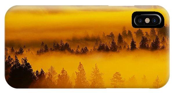 River Fog Rising IPhone Case