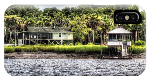 River House On Wimbee Creek IPhone Case