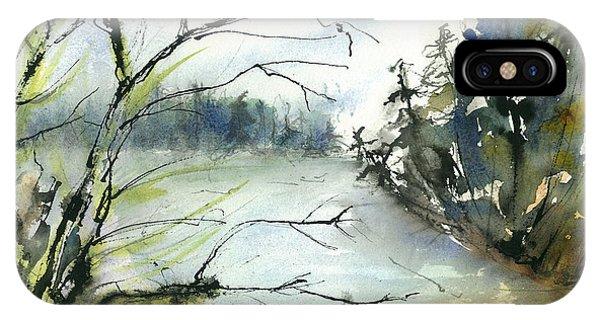 River In Autumn Phone Case by Gwen Nichols