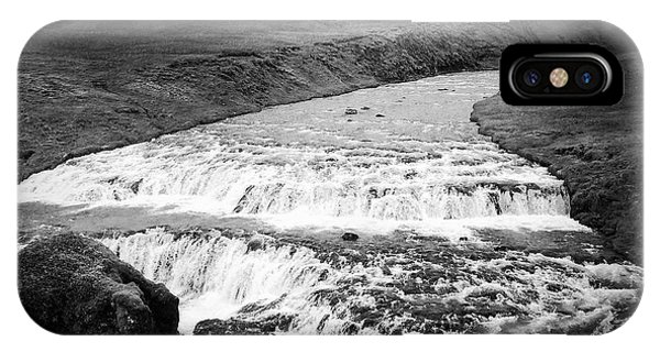 Landscapes iPhone Case - River In Iceland Black And White by Matthias Hauser