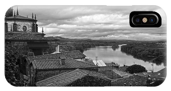 River Mino And Portugal From Tui Bw IPhone Case