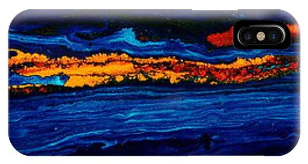 River Path Abstract Art Horizontal Fluid Painting By Kredart IPhone Case