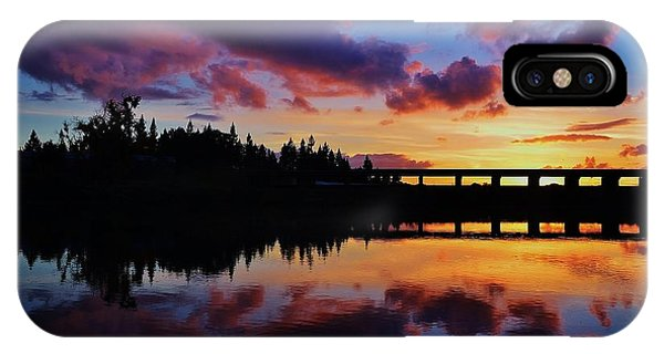 River Reflection Sunset IPhone Case