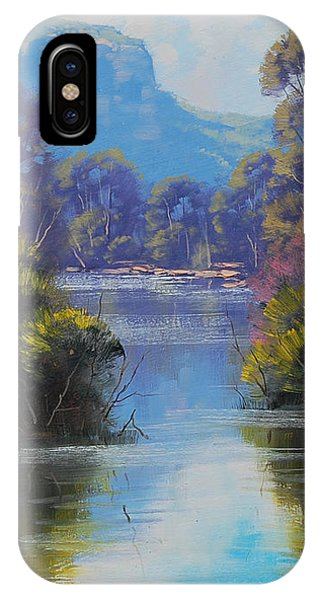 Stream iPhone Case - River Reflections Megalong Creek by Graham Gercken