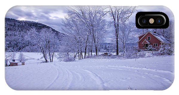 IPhone Case featuring the photograph River Road Winter by Tom Singleton