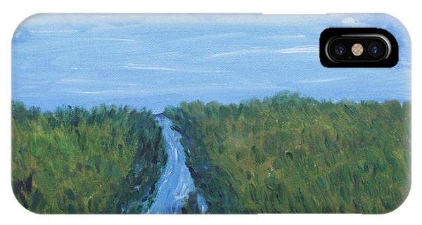 River Running Through The Grassland IPhone Case