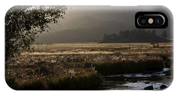 River Sunset At Rmnp IPhone Case