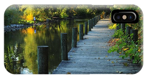 River Walk In Traverse City Michigan IPhone Case