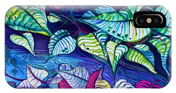 Riverbank Foliage IPhone Case