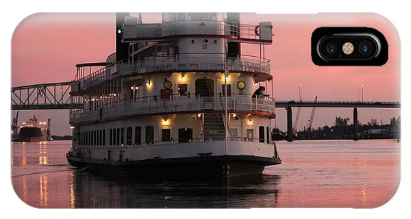 Riverboat At Sunset IPhone Case