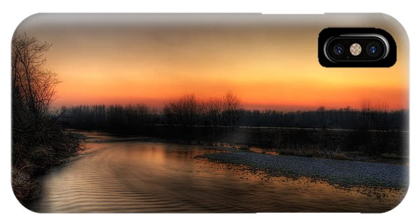 Riverscape At Sunset IPhone Case