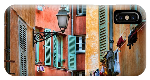 French Riviera iPhone Case - Riviera Alley by Inge Johnsson