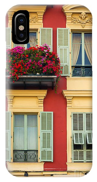 French Riviera iPhone Case - Riviera Windows by Inge Johnsson