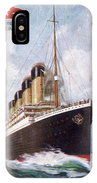 Shipwreck iPhone Case - Rms Titanic, Passenger Liner by Mary Evans Picture Library