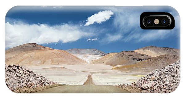 Road Across Atacama Desert IPhone Case