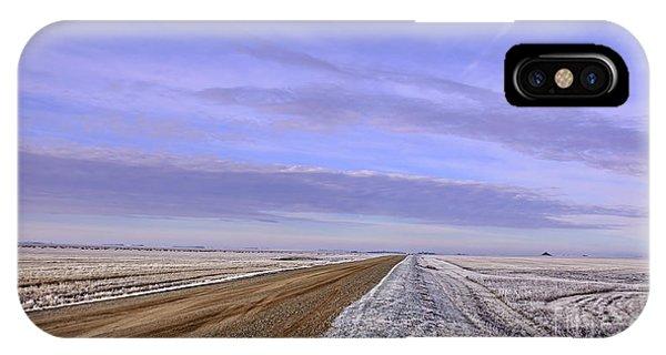iPhone Case - Road And Fild In Winter Time In Saskatchewan by Viktor Birkus