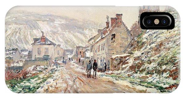 Neighborhood iPhone Case - Road In Vetheuil In Winter by Claude Monet