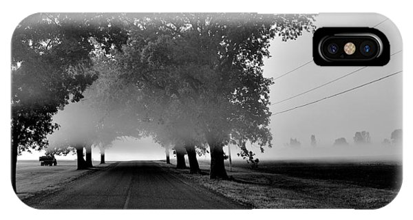 Road Into Morning Mist - Canada IPhone Case