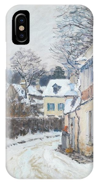 IPhone Case featuring the painting Road Louveciennes by Alfred Sisley