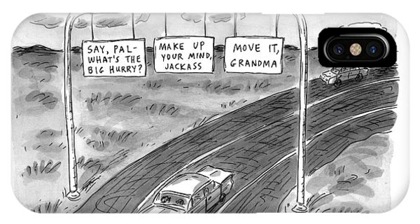 Highway iPhone Case - 'road Rage Highway' by Roz Chast
