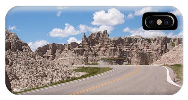 Road Through The Badlands IPhone Case