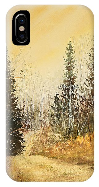 Road To Ed's Cabin-autumn IPhone Case