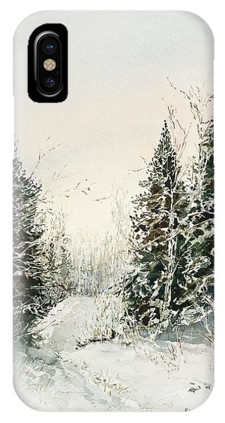 Road To Ed's Cabin-winter IPhone Case
