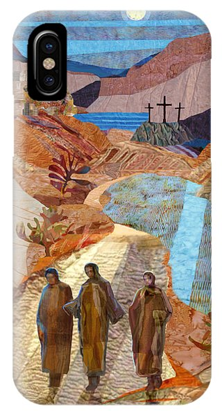 Crucifixion iPhone Case - Road To Emmaus by Michael Torevell